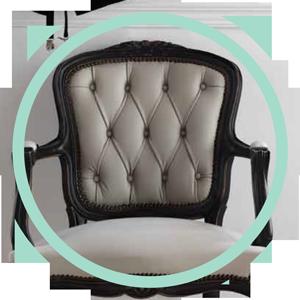 sillón luis xv tapizado capitoné