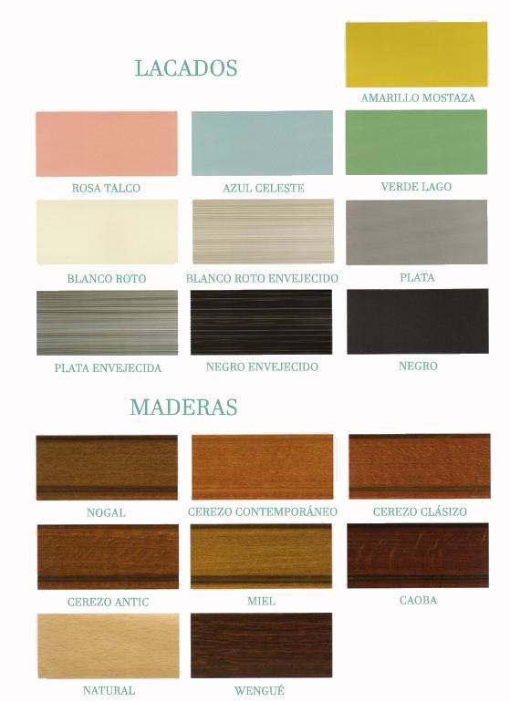 muestrario lacados y maderas serja decoración